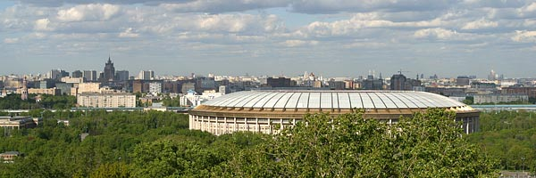 Moscow and Grand Sport Arena viewd from Sparrow Hills, 2004-05 (C) Seiji Yoshimoto