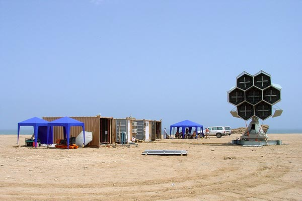 Transportable Tracking Station in Oman for Dnepr Launch, (C) Yuzhnoye